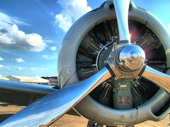 Shine on (TheSki) Tags: art beautiful clouds digital america austin photography fighter texas fuji waco aircraft divine airshow chrome photograph stunning s7000 americana popular propeller technique hdr prop artisitic bestshot flickrhits theski davidgaiewski