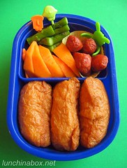 Inari sushi bento lunch for preschooler
