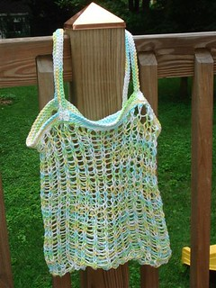 Ravelry: loom knit market bag pattern by rostitchery