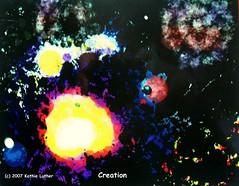 Creation (Heart Windows Art) Tags: moon abstract art digital painting paint earth space bibleillustration creation beginning progr