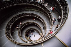 Italy - Rome - Vatican City Stair 1