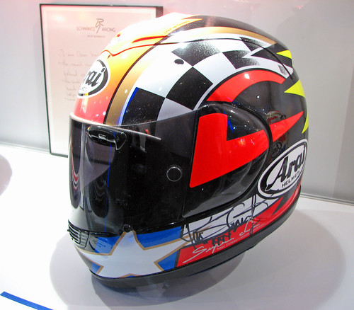 EICMA Show 07 - Kevin Schwantz's Arai Helmet.jpg,motorcycle, sport motorcycle, classic motorcycle, motorcycle accesorys
