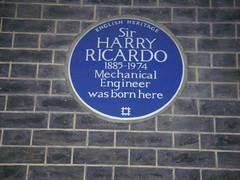 Photo of Harry Ricardo blue plaque