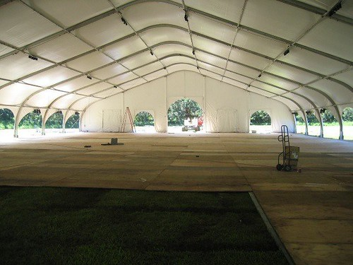 Inside view of tent, FullScale Event Productions and Party Rentals, Stage, Lights, Sound, Tents, Decor