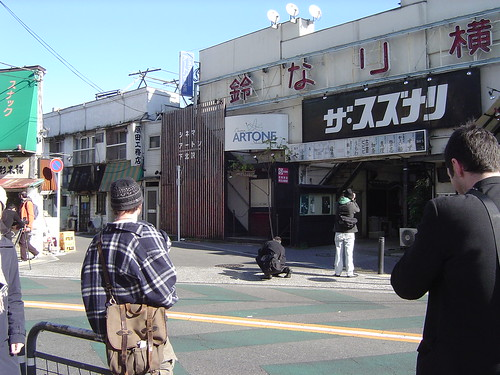 Taking pics at Shimokitazawa