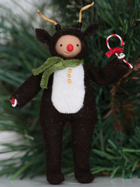 No009 Reindeer with Candy Cane