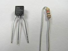 Transistor, resistor