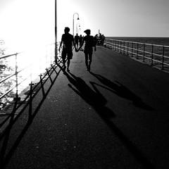 (Colinng) Tags: bridge sunset bw landscape photo australia adelaide bwdreams