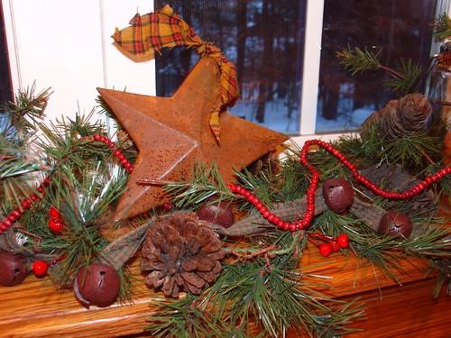Christmas Garland in My Kitchen Window