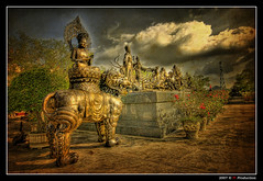 Chinese Museum @ Pattaya (Thailand) (Eric Rousset) Tags: voyage travel sky cloud texture statue museum architecture photoshop thailand photography gold reflex bravo asia raw cs2 sony sigma wideangle thalande muse ciel adobe asie bec nuage soe hdr highdynamicrange photomanipulated pattaya 2007 photomatix sigma1020 supershot magicdonkey tonemapping golddragon alpha100 abigfave sonydslra100 anawesomeshot aplusphoto flickrplatinum superbmasterpiece goldenphotographer diamondclassphotographer flickrdiamond megashot bratanesque excellentphotographerawards theunforgettablepictures colourartaward proudshopper theperfectphotographer goldstaraward piproduction chonburiprovince watyannasangwararam ericrousset ericroussetphotography