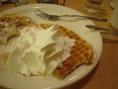 Waffles w/Whipped Cream