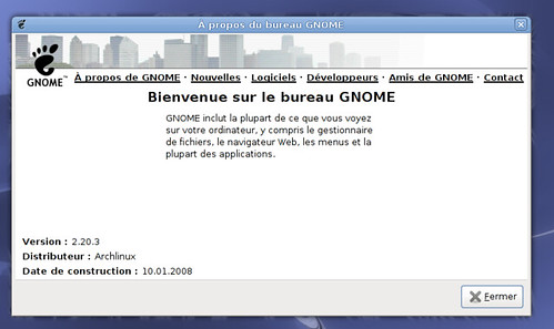 Gnome 2.20.3 sous ArchLinux