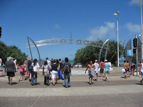 Main beach entrance in Surfer's Paradise