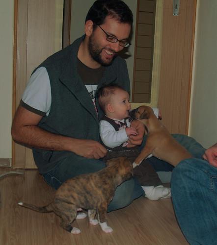 Peter und Lilly mit Anuket und Allocco