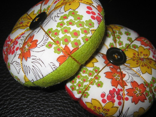 Picture of the two pin cushions I've made