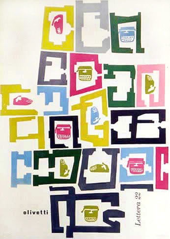 Olivetti Lettera 22 Poster