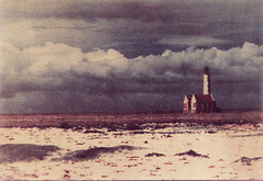 Lighthouse small Curaao (Hans de Bruijn) Tags: sky lighthouse watercolor curaao gumbichromate alternativeprocess bichromate altprocess alternativeprocesses gumprint gumprints digitalnegatives hansdebruijn gommebichromate gomdruk gummidruck