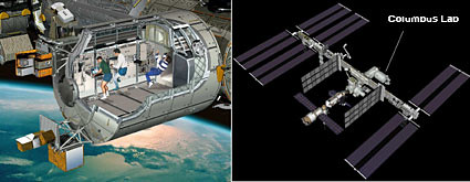 Columbus lab on Space Station