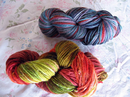 skeins autumn and blue