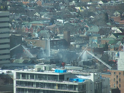 Fire at Queen and Bathurst in Toronto at 2h30PM