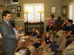 Rep. Bilirakis speaks to children during Give Kids a Smile event in Citrus Park, Fla.