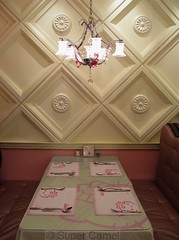Hello Kitty Cafe Taipei Taiwan Dining Setting (Chamelle Photo) Tags: pink food cute cakes public cake cat japanese this restaurant see design cafe all with photos sweet hellokitty interior treats cartoon taiwan icon tagged desserts chandelier birthdaycake bakery kawaii pastry sweets theme click taipei   pastries decor  fuxing zhongxiao daanroad hellokittysweets