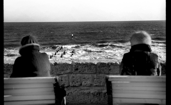 black sea and two women