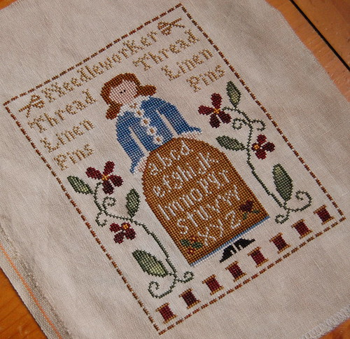 Sampler Lady finished!