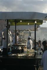 Food stalls (luptonn) Tags: africa morocco marrakesh djemaaelfna