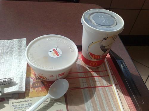 Porridge and Mickey D.