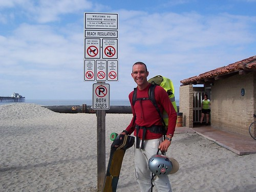 At the Pacific Ocean at last in Oceanside, California, USA
