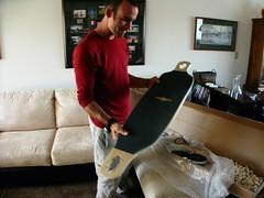 New Longboard Larry deck unveiled in Redondo Beach, California, USA