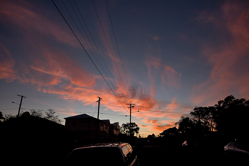 Sunset over Nundah
