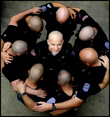 Baldies (Box of Light) Tags: usa sc face portraits circle bald bodylanguage yuck aiken squarish boxolight stoodonafiretruckforthis itwasnteasytalkingtheseguysintogettingthatclose