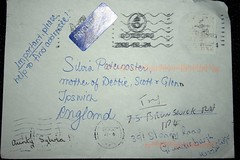 Bumped for a friend. It found its way there. (Richie Wisbey) Tags: england home its way found lost post mail sweden no royal system richard letter postal but sylvia address ipswich paternoster wisbey ripglenn