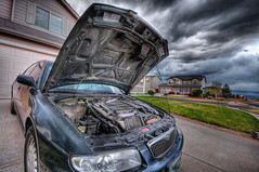 She's dead - Do not resuscitate (iceman9294) Tags: car dead nikon engine hdr chriscoleman d300 5exphdr iceman9294 mazdamillennia tiredofrepairs