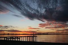 Lake Bonney Jetty (Caroline-on-Murray) Tags: sunset barmera lakebonney