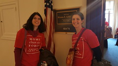 Visiting Senator Gillibrand's office
