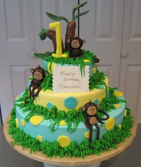 Brayden's Monkey Cake (TN Something Special Cakes) Tags: monkeycake tieredmonkeycake