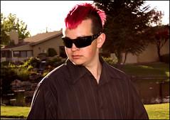 (K. Sawyer Photography) Tags: pink wedding portrait man tree sunglasses pond formal teen mohawk teenager dye