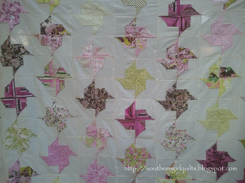 Origami Pinwhell Quilt Top - Close Up