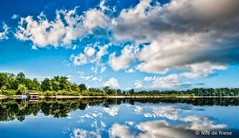 Chiemsee  (nilsderiese) Tags: sky lake reflection water clouds germany landscape bavaria chiemsee hdr samuelvanderkolk