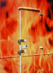 Hells backdoor (flickrolf) Tags: door light red orange color colour me strange beauty smile yellow germany happy fire funny europe day fuji time oneofakind space hell finepix laugh glimpse now miracles backdoor obscure happyness hysteric blackforrest blueribbonwinner allisone supershot onlythebest onlythebestare flickrolf