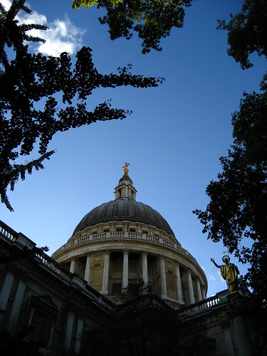 St Paul's through the trees