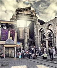 Entrance for Souq Al Hamidiyya - Damascus (khalid almasoud) Tags: 2005 old city trip fun effects al nikon place market great entrance historic business journey  damascus souq    8800        syrians    hamidiyya mscamera   kuwaitartphoto  top20travelpix