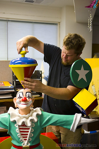assembling the clown