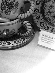 My favoite of course, Cups. (clickykbd) Tags: travel blackandwhite bw italy industry museum canon mono mugs town blackwhite ceramics italia cups tuscany local toscana borgo regional 2007 bwconverted borgosanlorenzo sd1000 sopahide