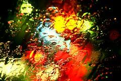 (Beshef) Tags: red color green water car rain yellow iran tehran raining ایران باران تهران سبز رنگ زرد آب قرمز ماشین شیشه بارانی خیس رنگی اتوموبیل