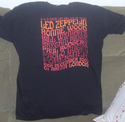 camiseta zeppelin reunión 2007-2