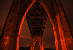 Arch of St. Johns (Gigapic) Tags: park christmas bridge winter usa game saint st night oregon season portland landscape video nikon bravo shot unitedstates cathedral stjohns quake pdx johns 2007 d80 challengeyouwinner mywinners 18135mmf3556g platinumphoto superbmasterpiece photofaceoffwinner photofaceoffplatinum pfogold sept08pfobrackets